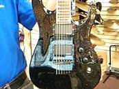 Jackson Dinky (Made in Japan) Electric Guitar Reverse Headstock Black Sparkle
